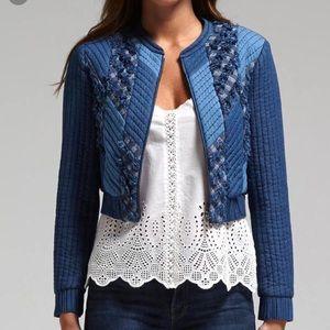 Rebecca Taylor Patch Chambray Jacket
